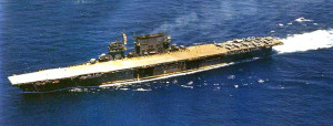 USS Saratoga underway